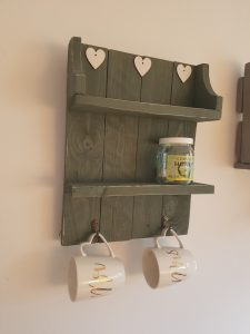 Rustic shelves & hangers