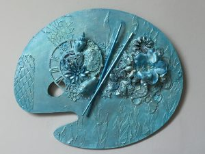 Artist palette aqua